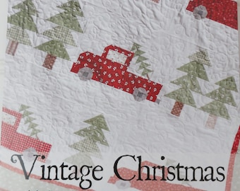 Vintage Christmas Quilt Pattern by Erica Made