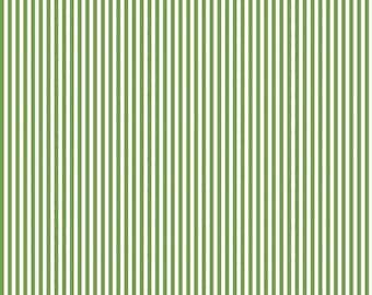 "Riley Blake Designs 1/8"" Clover Stripe (C495-Clover) 1/2 Yard Increments"