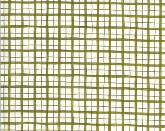 Moda Animal Crackers Pickle Green Plaid (5807 12) 1/2 Yard Increments
