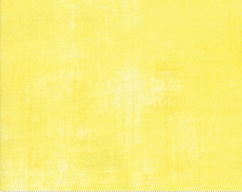 Moda Grunge Basic Lemon Drop (30150 321) 1/2 Yard Increments