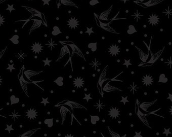 Free Spirit Linework by Tula Pink Fairy Flakes Ink (PWTP157.INK) 1/2 Yard Increments