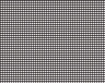 "1/4 YD Bold End*Riley Blake Designs 1/8"" Small Gingham Black (C440-110 BLACK)"