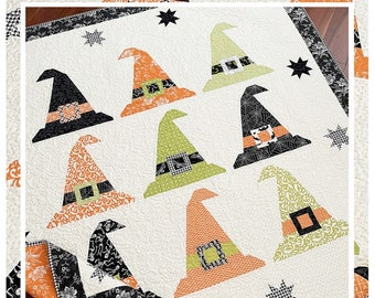 BeWitched Quilt Pattern*The Pattern Basket*Witch Quilt Pattern*Witch Hat Quilt*Bewitched Quilt*Halloween Quilt Pattern*Halloween Pattern*