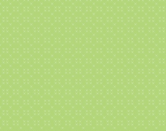 Riley Blake Designs Strawberry Honey Cross Stitch Key Lime*C10246-KEYLIME*1/2 YD Increments*Spring Green Blender*Green Low Volume*X Print*