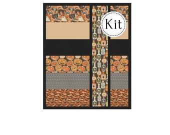 Candy Stripes Quilt Kit*Spooktacular Quilt Kit*Beginner Quilt*Halloween Kit*Halloween Quilt*Easy Halloween Quilt*Beginner Halloween Quilt*