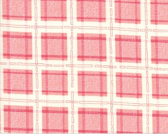 Abby Rose Thatched Plaid With Ease Rose (48675 12) 1/2 Yard Increments