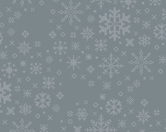 Art Gallery Fabrics Snow Day Ice Crystals (SND-65404) 1/2 Yard Increments