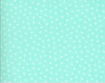 Moda Happy Days Spring Dots Aqua (37605 19) 1/2 Yard Increments