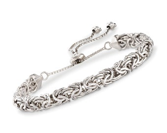 7fbf8f3b22505 Ross-Simons Sterling Silver Small Byzantine Bracelet   Etsy