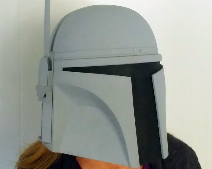 Featured listing image: Jango Fett Mandalorian Bounty Hunter Helmet Kit 3D Printed Ready To Paint