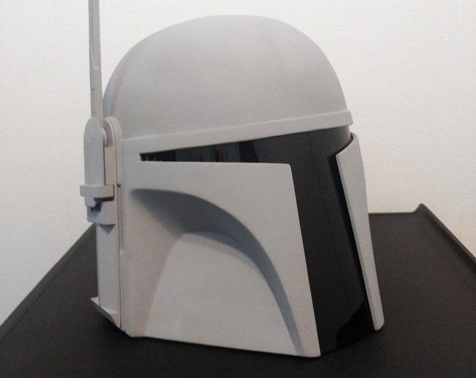 Featured listing image: Classic Mandalorian 3D Printed Electronics Ready Unpainted (Mando) Bounty Hunter Helmet Kit