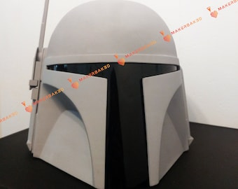 Unfinished Classic Mandalorian Bounty Hunter Helmet Kit 3D Printed