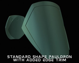 Mandalorian Edge Trim Pauldron Pair Armor Kit 3D Printed