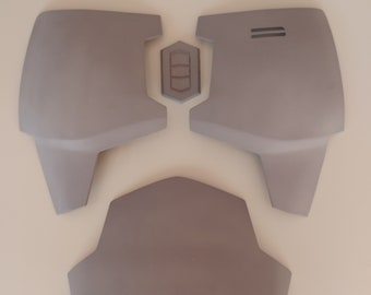 Mandalorian Chest & Belly Plate Armor Kit (Mando) 3D Printed Ready To Paint