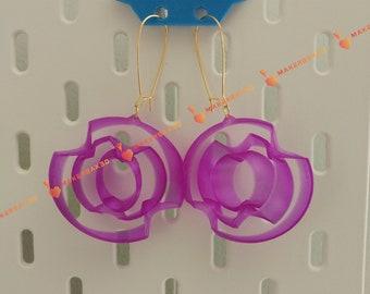 3D Printed Spinning Gyroscope Earrings