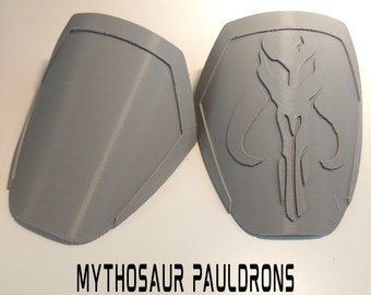 Female Mandalorian Mythosaur Pauldron Armor Kit Ready To Paint