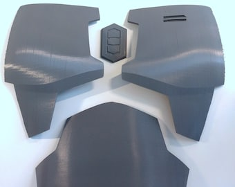 Unfinished Mandalorian Chest & Belly Plate Armor Kit