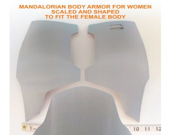 Female Mandalorian Chest & Belly Plate Armor Kit 3D Printed