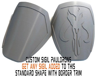 Mandalorian CUSTOM SIGIL Pauldrons Armor Kit 3D Printed