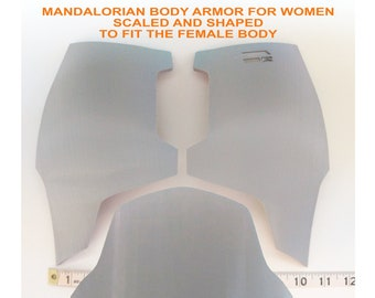 Female Mandalorian Chest & Belly Armor Kit Ready To Paint