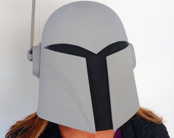 Unfinished Sabine Wren Mandalorian Bounty Hunter Helmet Kit 3D Printed