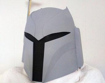 DIY Model Ursa Wren Mandalorian (Mando) Bounty Hunter Helmet 3D Printable File