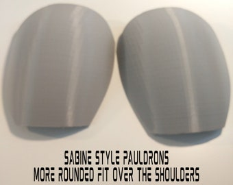 Female Sabine Wren Shoulder Pauldron Armor Kit Ready To Paint