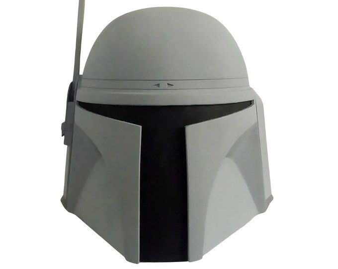 Featured listing image: Mandalorian 3D STL File Jango Fett Helmet Printable Model