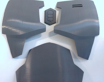 Unfinished Mandalorian Complete Body Armor Kit