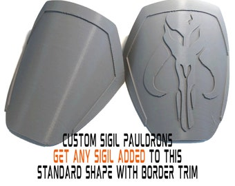 Mandalorian CUSTOM SIGIL Pauldron Armor Kit Ready To Paint