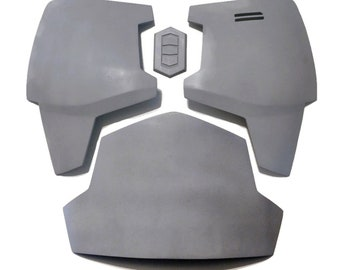 Mandalorian Chest & Belly Plate Armor Kit Ready To Paint