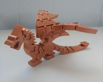 3D Printed Flexi-Dragon Flexible Dragon Toy