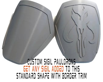 Unfinished Female Mandalorian CUSTOM SIGIL Pauldrons Armor Kit