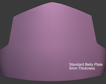 DIY BELLY PLATE for Mandalorian Men's Armor 3D Printable Model