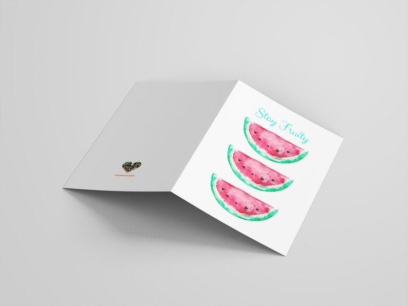 Dinner Thanksgiving Hand painted Watermelons with heart cores Date Thank you Invitation Gift STAY FRUITY Delicious