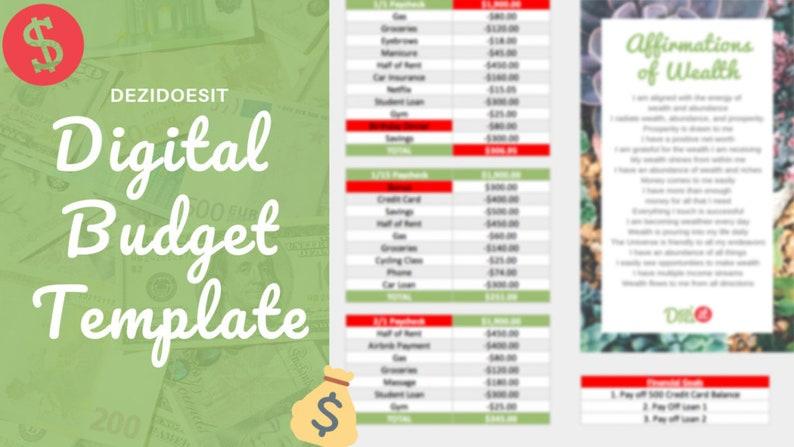 Dezi Does It Digital Budget Template image 0