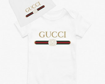 d66ac3b3547 2 piece GUCCI Cute Creeper w matching hat Gucci Inspired Baby Bodysuit Gucci  Baby gift GUCCI babyshower gift GUCCI