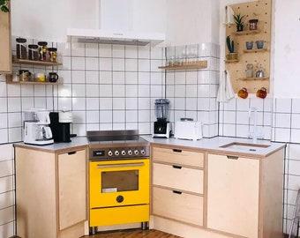 Premium Birch Ply Kitchen Units, Birch Plywood Base Units, Custom Kitchen Units, Birch Ply Kitchen Cabinets.