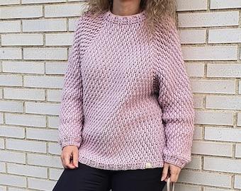 SWEATER NUBE, Cloud Sweater, Sweater, Jersey, Maglione, Hand Fabric, Feito, Hand Lavorato, Current Fashion, Winter, Modern Crochet.