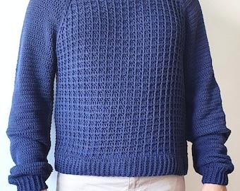 CUADRICULA SWEATER, Grid Sweater, PDF, Patrón Ganchillo, Crochet Pattern, Motivo all'uncinetto, Padrão de crochê.