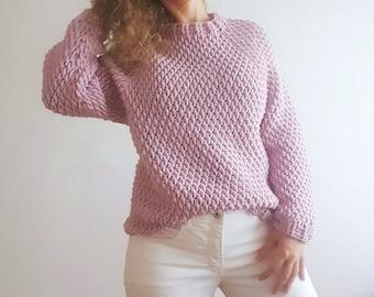 SWEATER NUBE, PDF, jersey ganchillo patron, sweater crochet pattern, maglia motivo all'uncinetto, sueter padrão crochê,