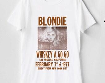 09ce8df6 blondie WHISKEY a go go t shirt, blondie t shirt, blondie tshirt, blondie  tee, blondie clothing size S-2XL