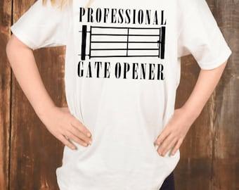 Professional Gate Opener Funny Shirt Tees Short Sleeves Shirt Unisex Hoodie Sweatshirt For Mens Womens Ladies Kids