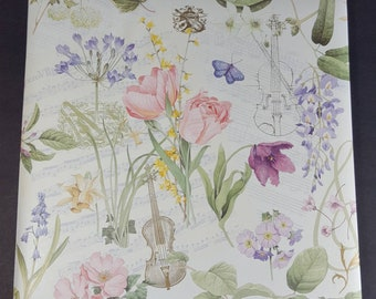Portmeirion PN172 ~ Four Paper Napkins by C R Gibson ~ Choose 5x5 or 6.5 x 6.5 ~ Botanic Garden Pretty Pink Flowers