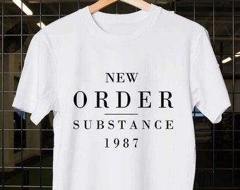 aed176e3c New Order substance 1987, New Order Band, New Order t shirt, New Order  tshirt, Band shirt, Unisex Adult Clothing, size S-XXL