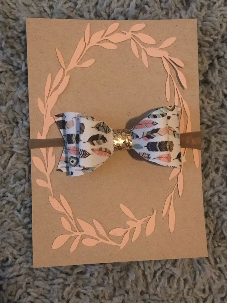 Feathers and Gold doubke loop bow