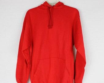 Realistic Vintage Gildan Usmc Marine Corp Heavyweight Red Hooded Sweatshirt M Free Ship Activewear
