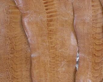 /%100 Genuine Ostrich Leather G.A orange Ostrich Legs Skin Leather Tangerine