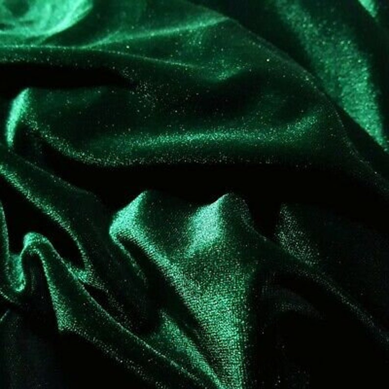 HUNTER GREEN/_Soft Quality Stretch Velvet Fabric By The Yard/_ 58 wide/_ Super Soft/_ Light Weight/_ Used for Dress,Decorations,Clothing sewing