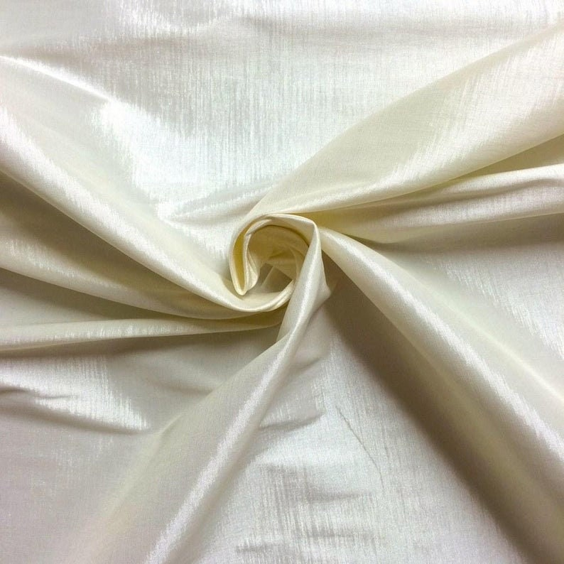 IVORYBEST Quality Stretch Taffeta Fabric Sold By The Yard 58/'/' Wide LightTaffeta FOR DecorationsNight GownBridal FabricDressTablecloth